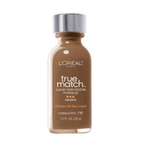 L'Oréal true match foundation : cappuccino